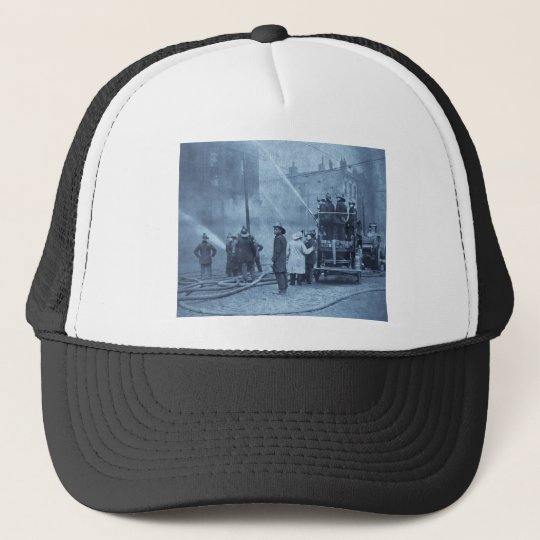 Fire Crew in Action - Vintage Trucker Hat