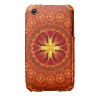 Fire Cross Mandala iPhone 3 Cover