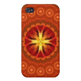Fire Cross Mandala iPhone 4 Covers