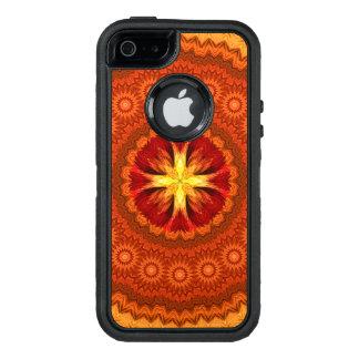 Fire Cross Mandala OtterBox Defender iPhone Case