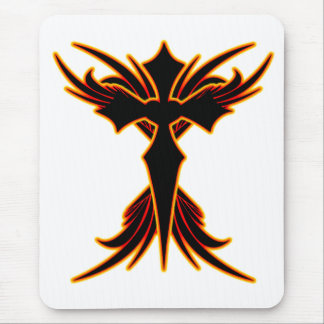 Fire Cross Mouse Pad
