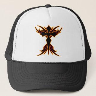Fire Cross Trucker Hat