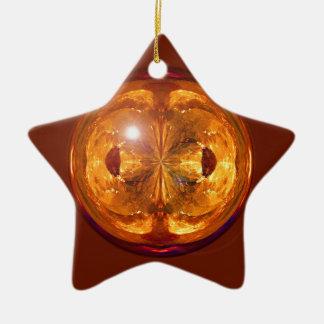Fire Crystal Ceramic Ornament