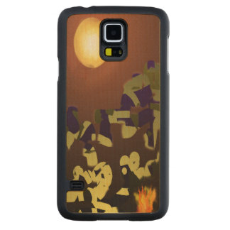 Fire Dance Abstract Design Carved® Maple Galaxy S5 Slim Case