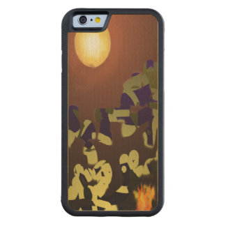 Fire Dance Abstract Design Carved® Maple iPhone 6 Bumper