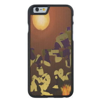 Fire Dance Abstract Design Carved® Maple iPhone 6 Slim Case