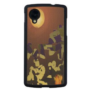 Fire Dance Abstract Design Carved® Maple Nexus 5 Slim Case