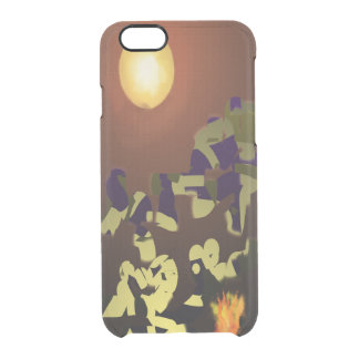 Fire Dance Abstract Design Clear iPhone 6/6S Case