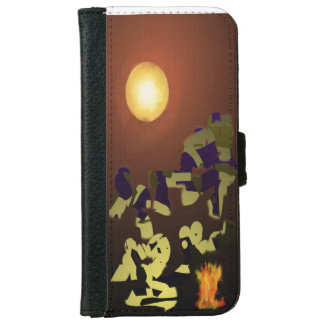 Fire Dance Abstract Design iPhone 6/6s Wallet Case