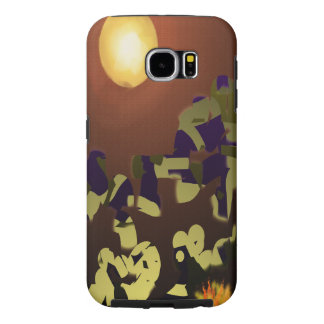 Fire Dance Abstract Design Samsung Galaxy S6 Cases