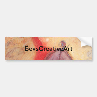 Fire Dance abstract oil painting Bumper Sticker