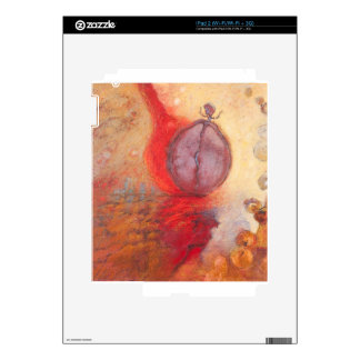 Fire Dance abstract oil painting iPad 2 Decal