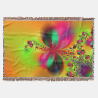 Fire Dance Fractal Art Throw Blanket
