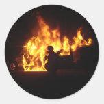 Fire Dance Round Sticker