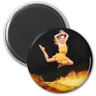 Fire Dancer 2 Inch Round Magnet