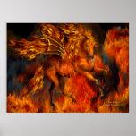 Fire Dancer Fantasy Art Poster