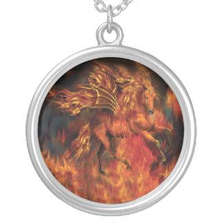 Fire Dancer Wearable Art Necklace