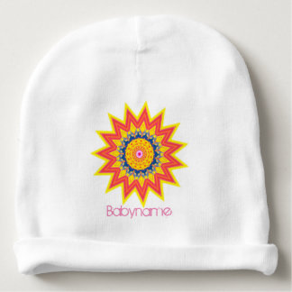 Fire Dancers Star Mandala Personalized Baby Beanie