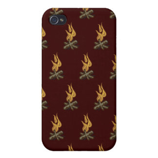 Fire Dark Red iPhone 4 Cover