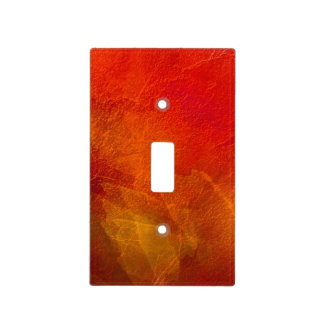 Fire - Deep Orange Red Yellow Abstract Art Light Switch Cover