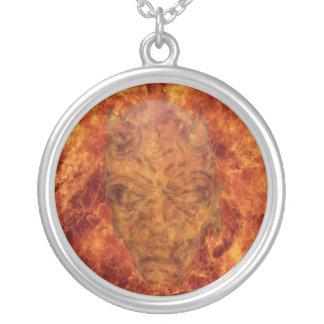 Fire Demon Round Necklace