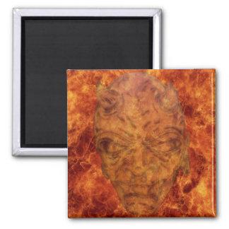 Fire Demon Square Magnet
