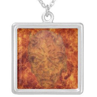 Fire Demon Square Necklace