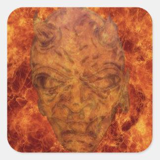 Fire Demon Square Stickers