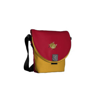 Fire Department 2 Bugle Custom Courier Bags
