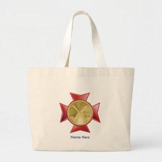 Fire Department 2 Bugle Custom Jumbo Tote Bag