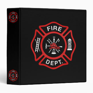 Fire Department Badge 3 Ring Binder