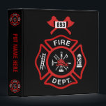 """Fire Department Badge Binder<br><div class=""""desc"""">Fire Department logo with customizable call numbers. Great for firemen and first respondents.</div>"""