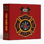 Fire Department Badge Binder