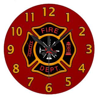 Fire Department Badge Clocks