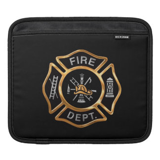 Fire Department Badge Gold iPad Sleeves