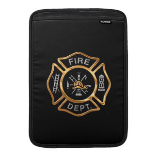 Fire Department Badge GOld MacBook Sleeve