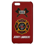 Fire Department Badge Name Template Cover For iPhone 5C