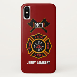 Fire Department Badge Name Template iPhone X Case