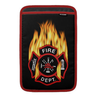 Fire Department Badge Red Fire MacBook Sleeve