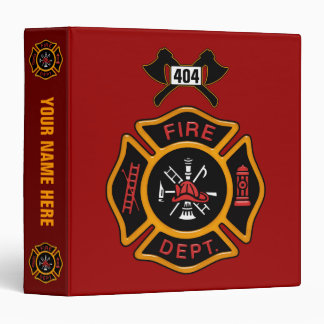 Fire Department Badge Vinyl Binders