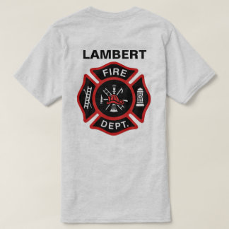 Fire Department Badge w/ Name T-Shirt