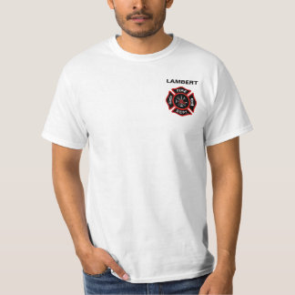 Fire Department Badge w/ Name Tshirt