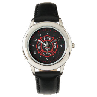 Fire Department Badge Wrist Watches