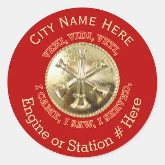Fire Department Battalion Chief Medallion Classic Round Sticker
