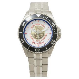 Fire Department Battalion Chief Medallion Wristwatch