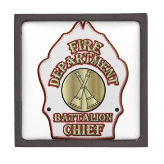 Fire Department Battalion Chief Shield Design Gift Box