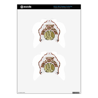 Fire Department Battalion Chief Shield Design Xbox 360 Controller Decal