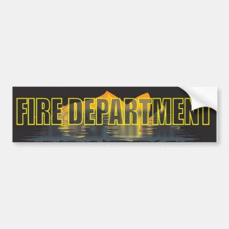 FIRE DEPARTMENT BUMPER STICKER