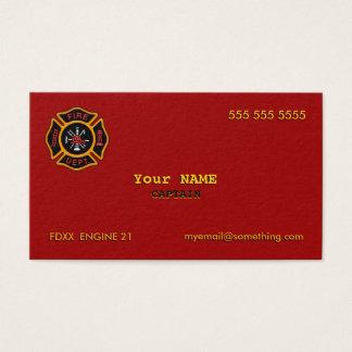 Fire Department Business Card