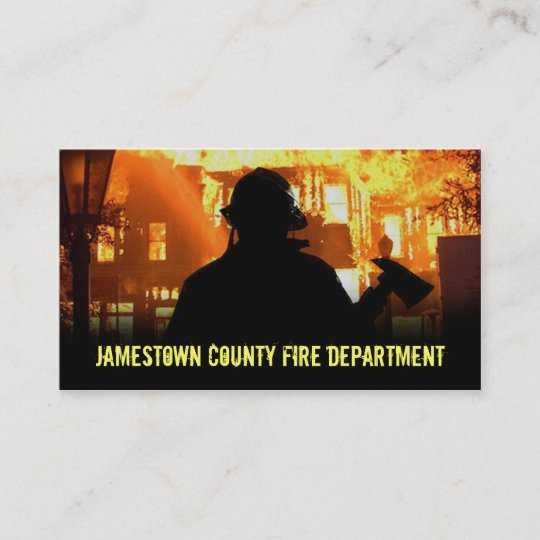 Fire Department Business Cards Zazzle